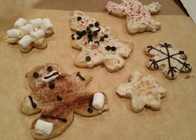 GFCF Cookies w/GFCF Cane-Sugar free icing & Food-Dye Free Decorations